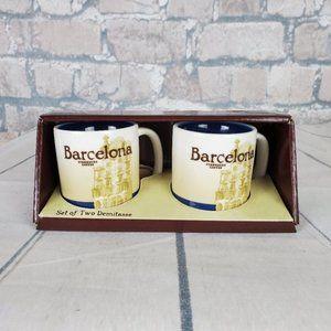 Starbucks Set of 2 Demitasse City Mugs Barcelona